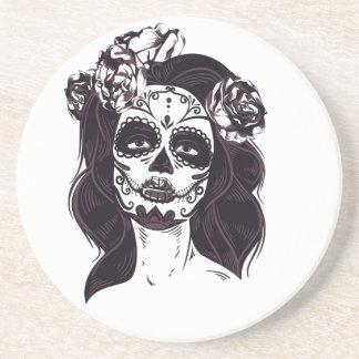 Cráneo de la máscara portavasos