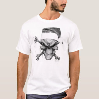 Cráneo de la muerte de Navidad de Papá Noel Camiseta