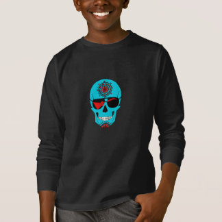 Cráneo de la roca camiseta