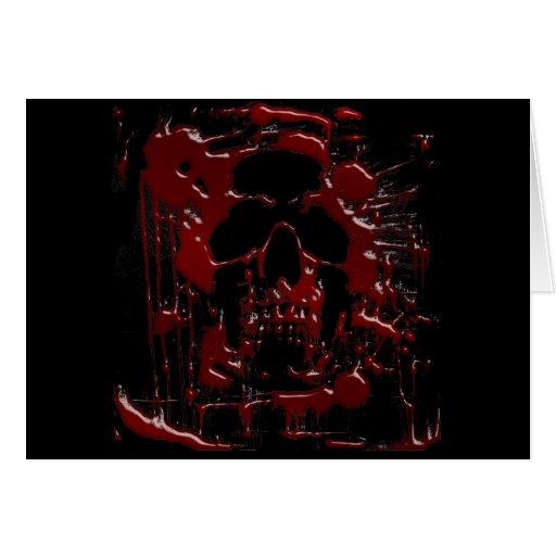 Cráneo de la sangre felicitacion