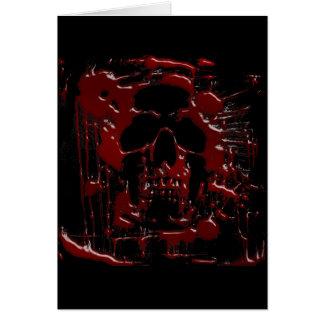 Cráneo de la sangre tarjetas