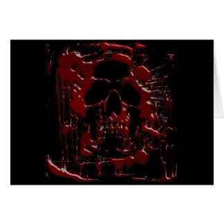 Cráneo de la sangre tarjeta de felicitación