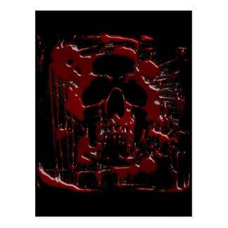 Cráneo de la sangre tarjetas postales