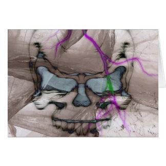 Cráneo de la sangría tarjeta de felicitación