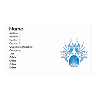 Cráneo de la soldadura tarjetas de negocios