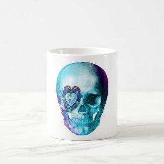 Cráneo de la tarjeta del día de San Valentín de la Tazas