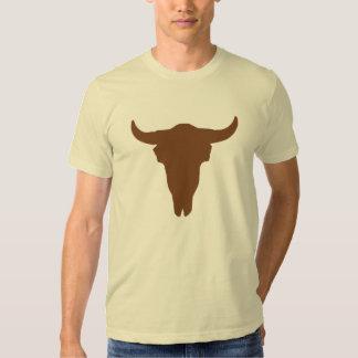 Cráneo de la vaca camiseta