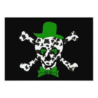 Cráneo de la vaca de St Patrick Invitacion Personalizada