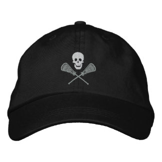 Cráneo de LaCrosse y casquillo bordado palillos de