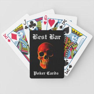 Cráneo de las tarjetas de la calidad del casino de baraja de cartas bicycle