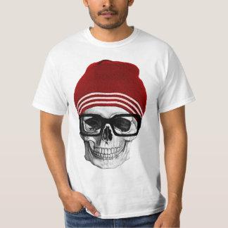 Cráneo de moda del inconformista camiseta