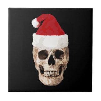 Cráneo de Papá Noel - el navidad es muerto Azulejo De Cerámica