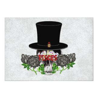 Cráneo de Piscis Invitación 12,7 X 17,8 Cm