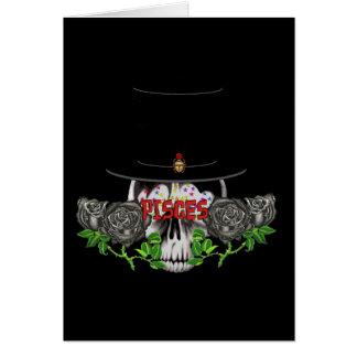 Cráneo de Piscis Tarjeta De Felicitación