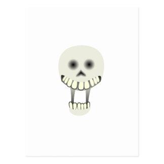 Cráneo de risa de Halloween Tarjeta Postal