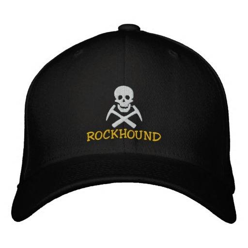 Cráneo de Rockhound y casquillo bordado seleccione Gorra De Béisbol