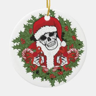 Cráneo de Santa con la guirnalda Ornamento Para Reyes Magos