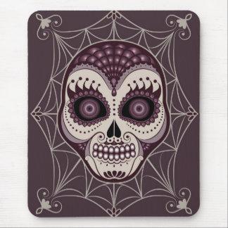 Cráneo decorativo de la tela de araña de Dia de Alfombrilla De Ratón