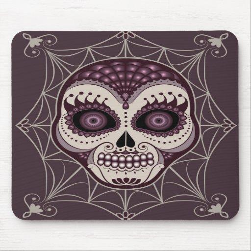 Cráneo decorativo de la tela de araña de Dia de lo Tapete De Ratones
