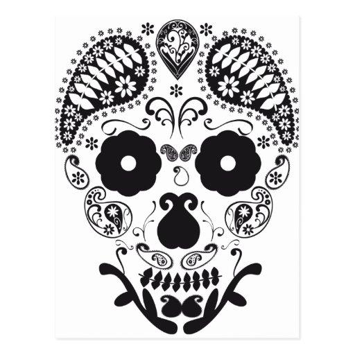 Cráneo decorativo postal