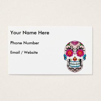 Cráneo del azúcar - arte del tatuaje tarjeta de negocios