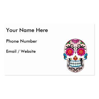Cráneo del azúcar - arte del tatuaje tarjetas de visita