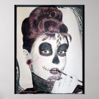 Cráneo del azúcar (Audrey) por el villancico Zeock Póster