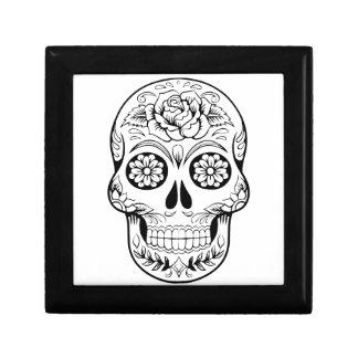 Cráneo del azúcar caja de regalo