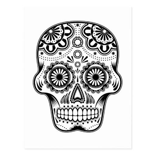 Cráneo del azúcar de B&W Tarjeta Postal