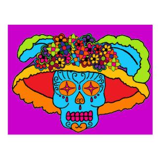 Cráneo del azúcar de Catrina Postal