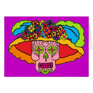 Cráneo del azúcar de Catrina Tarjeta
