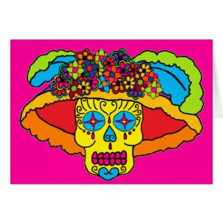 Cráneo del azúcar de Catrina Felicitaciones