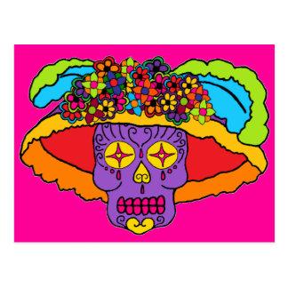Cráneo del azúcar de Catrina Tarjeta Postal