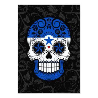 Cráneo del azúcar de la bandera de Honduras con Invitación 8,9 X 12,7 Cm
