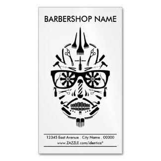 cráneo del azúcar de la barbería tarjetas de visita magnéticas