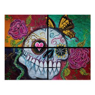 Cráneo del azúcar de Mariposa Postal