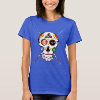 Cráneo del azúcar del billar (coloreado) camiseta