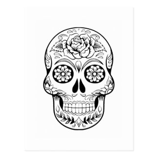 Cráneo del azúcar postal