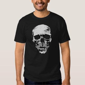 Cráneo del bigote camisetas
