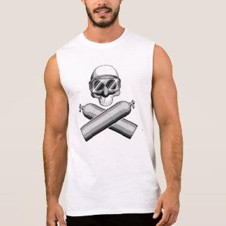 Cráneo del buceador camiseta sin mangas