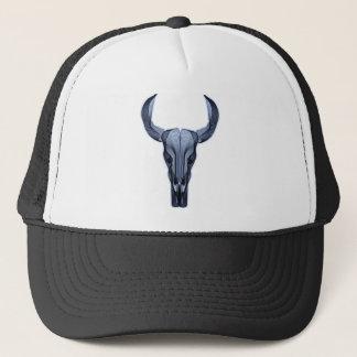 Cráneo del búfalo gorra de camionero