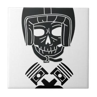 Cráneo del casco de la motocicleta azulejo de cerámica