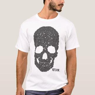 Cráneo del casquillo camiseta