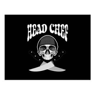 Cráneo del chef b w