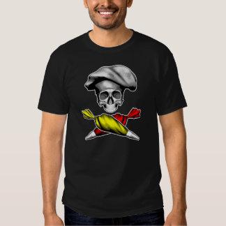 Cráneo del chef de repostería camiseta