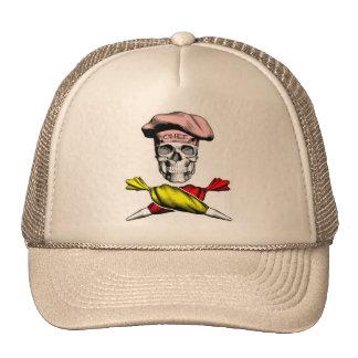 Cráneo del chef de repostería gorras