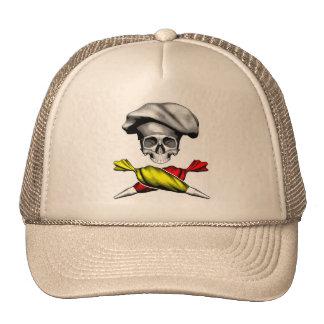 Cráneo del chef de repostería gorras de camionero
