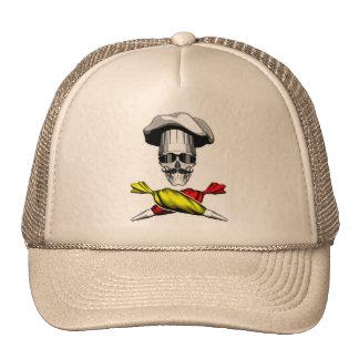 Cráneo del chef de repostería gorro