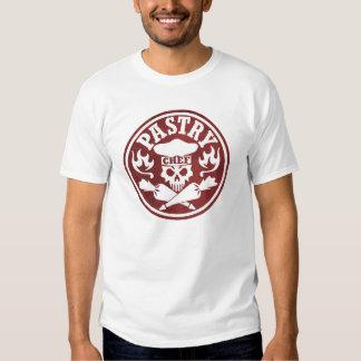 Cráneo del chef de repostería y bolsos cruzados de camiseta