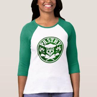 Cráneo del chef de repostería y verde cruzado de camiseta